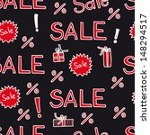 seamless pattern with sale sign ... | Shutterstock . vector #148294517