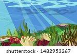 underwater landscape flat... | Shutterstock .eps vector #1482953267