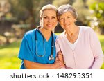 mid age medical nurse and... | Shutterstock . vector #148295351