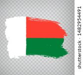flag madagascar from brush...