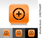 plus in circle icon. orange...