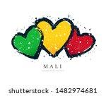 malian flag in the form of... | Shutterstock .eps vector #1482974681