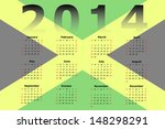 calendar design for 2014 with... | Shutterstock . vector #148298291