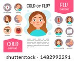 vector poster flu or a cold ... | Shutterstock .eps vector #1482992291