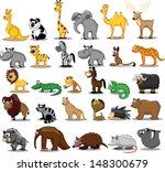 set of cute cartoon animals | Shutterstock .eps vector #148300679
