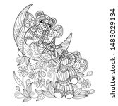 hand drawn sketch illustration... | Shutterstock .eps vector #1483029134