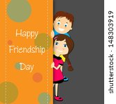 happy friendship day greeting... | Shutterstock .eps vector #148303919