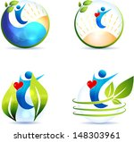 healthy lifestyle symbol... | Shutterstock .eps vector #148303961
