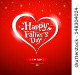 happy father's day lettering... | Shutterstock .eps vector #148304024