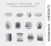 a set of grungy textures.... | Shutterstock .eps vector #148305671