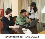 a business team cheerfully... | Shutterstock . vector #14830615