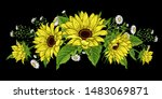 Flower Garland. Sunflowers And...
