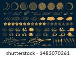 collection of gold decorative... | Shutterstock .eps vector #1483070261