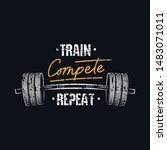 train compete repeat print with ... | Shutterstock .eps vector #1483071011