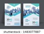 corporate book cover design... | Shutterstock .eps vector #1483077887