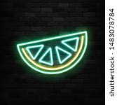 vector realistic isolated neon...   Shutterstock .eps vector #1483078784