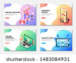 landing pages. online shopping  ... | Shutterstock .eps vector #1483084931
