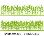 corn field detailed countryside ... | Shutterstock .eps vector #148309511