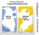 dynamic modern fluid abstract... | Shutterstock .eps vector #1483098824