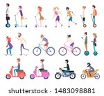 urban transport. people riding... | Shutterstock .eps vector #1483098881