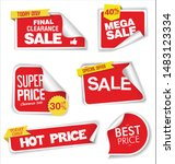 modern colorful sale stickers... | Shutterstock . vector #1483123334