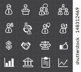 business man finance icons set... | Shutterstock .eps vector #148312469