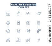 healthy lifestyle icon set.... | Shutterstock .eps vector #1483151777