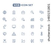 web icon set. line style | Shutterstock .eps vector #1483151801
