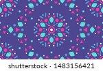 colorful ornamental pattern.... | Shutterstock .eps vector #1483156421