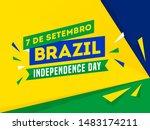 7 de setembro  brazil... | Shutterstock .eps vector #1483174211