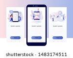 system update concept. screen... | Shutterstock .eps vector #1483174511