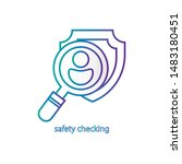 safety checking icon. app sign. ...