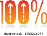 one hundred percent logo and...   Shutterstock .eps vector #1483216094