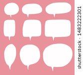 hand drawn speech bubble vector ...   Shutterstock .eps vector #1483222301