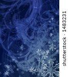 Постер, плакат: indigo midwinter snowstorm
