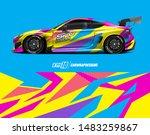 car graphic design concept.... | Shutterstock .eps vector #1483259867