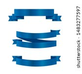 blue ribbons set.vector ribbon... | Shutterstock .eps vector #1483277597