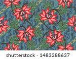 indonesian batik motifs with...   Shutterstock .eps vector #1483288637