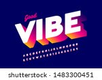 bright positive style font... | Shutterstock .eps vector #1483300451