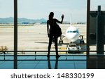 silhouette of young woman... | Shutterstock . vector #148330199