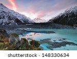 Sunset At Mueller Glacier...