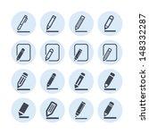 edit icons   Shutterstock .eps vector #148332287