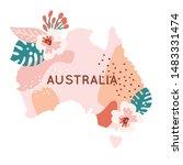 trendy colorful australia map... | Shutterstock .eps vector #1483331474