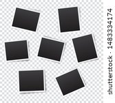 set of empty photo frame with... | Shutterstock .eps vector #1483334174