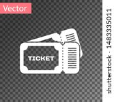 white ticket icon isolated on... | Shutterstock .eps vector #1483335011