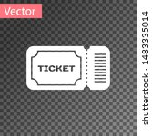 white ticket icon isolated on... | Shutterstock .eps vector #1483335014