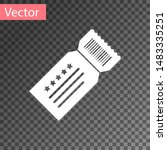white ticket icon isolated on... | Shutterstock .eps vector #1483335251