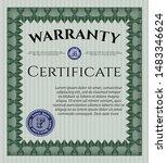 green retro vintage warranty... | Shutterstock .eps vector #1483346624