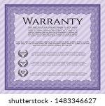 violet warranty template.... | Shutterstock .eps vector #1483346627