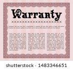 red warranty. easy to print.... | Shutterstock .eps vector #1483346651